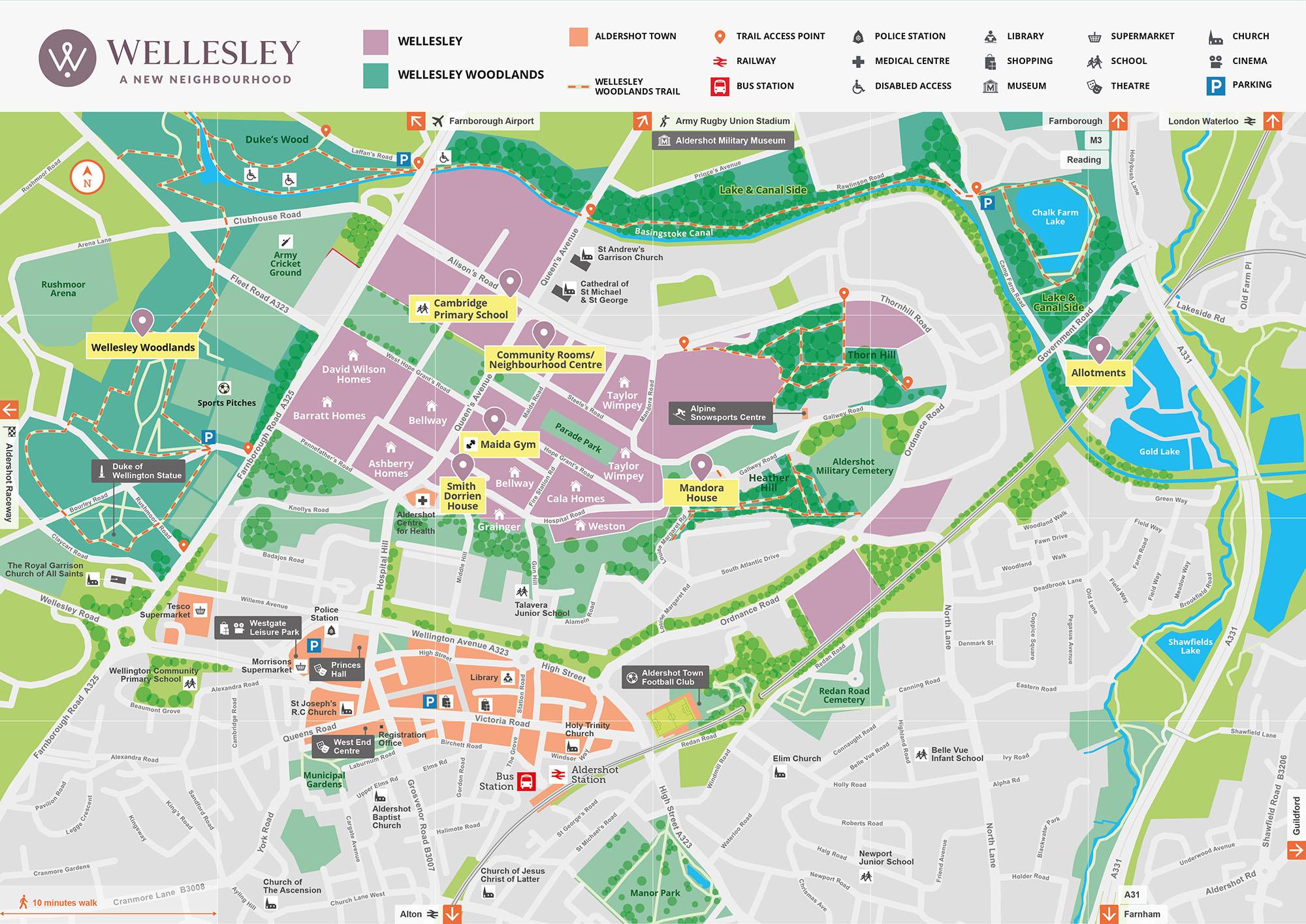 Wellesley neighbourhood map June 2021
