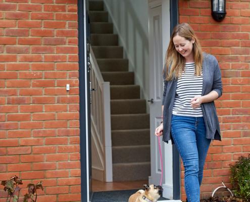 Wellesley - woman and dog