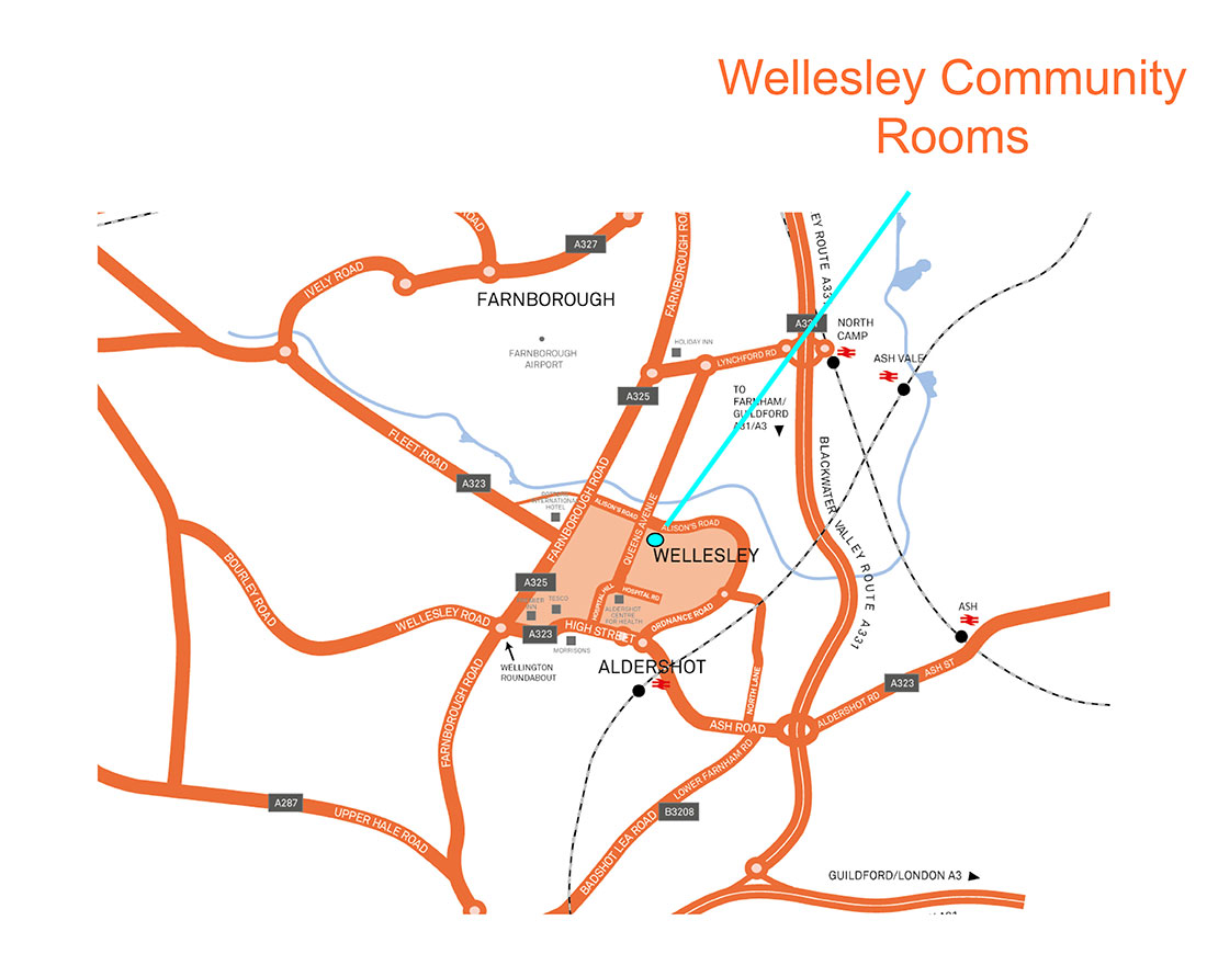 Wellesley Community Rooms map