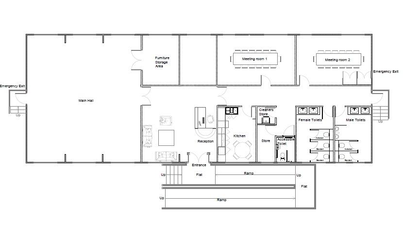 Wellesley Community Rooms plan