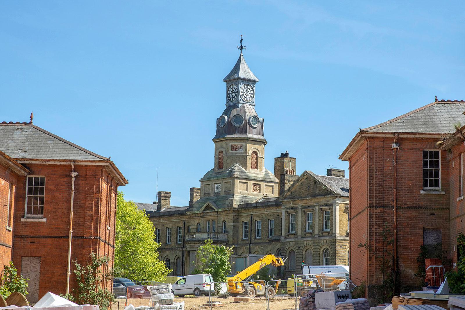 Cambridge Military Hospital construction work