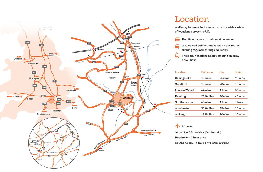 Wellesley location map